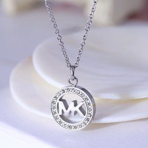 Michael Kors Hollow Round Zircon Necklace